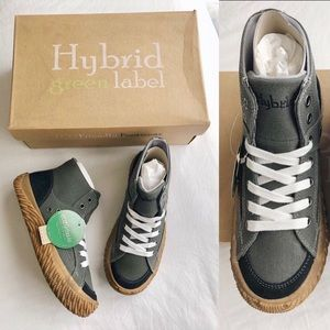 New HYBRID GREEN LABEL Label High-top Sneakers